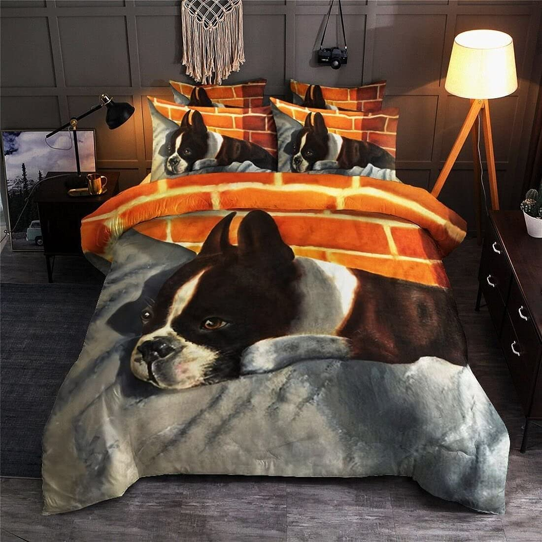Personalized Boston Terrier Lover Set Bedding Fixed price for sale Direct store 3