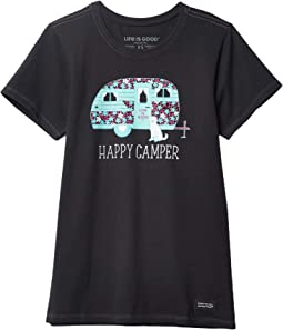 Floral Happy Camper Crusher Tee