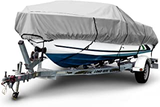 Budge 1200 Denier Boat Cover fits Center Console V-Hull Boats B-1231-X5 (18' to 20' Long,  Gray)