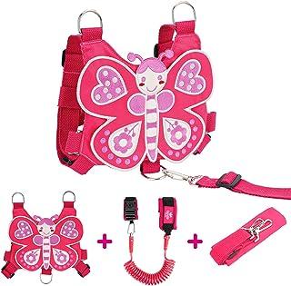 Lehoo Castle Toddler Leash, Kids Safety Harness + Anti Lost Wrist Link with Key Lock, Baby Leash HarnessforWalking Girls...