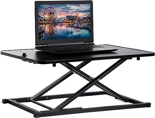 """popular Standing Desk Converter lowest Computer Workstation lowest Standard Office Height Adjustable Laptop Stand Up Desktop Gas Lift Sit-Stand Large Working Area Platform Riser, 29"""" online"""