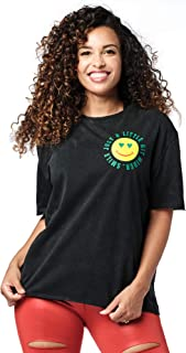 Zumba Women's Graphic Design Breathable Burnout Workout Tee