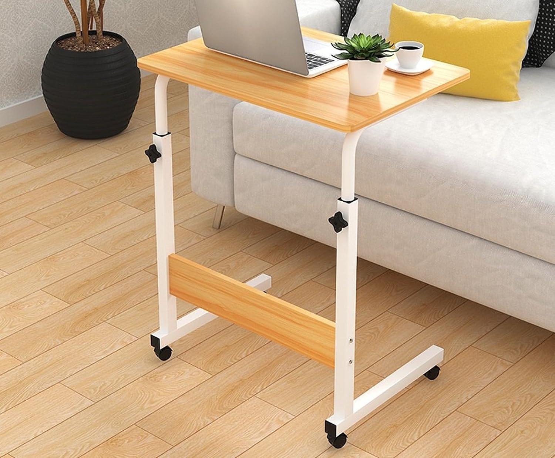 SHWSM Simple Laptop Table Bed Desktop Household Simple Bedside Lift Mobile Writing Desk Folding Table (color    1, Size   60  40 cm)