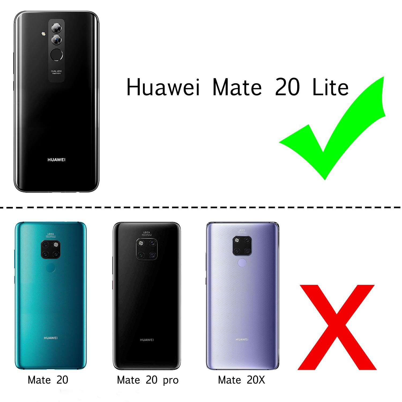 LeYi Funda Huawei Mate 20 Lite Silicona Purpurina Carcasa con HD ...