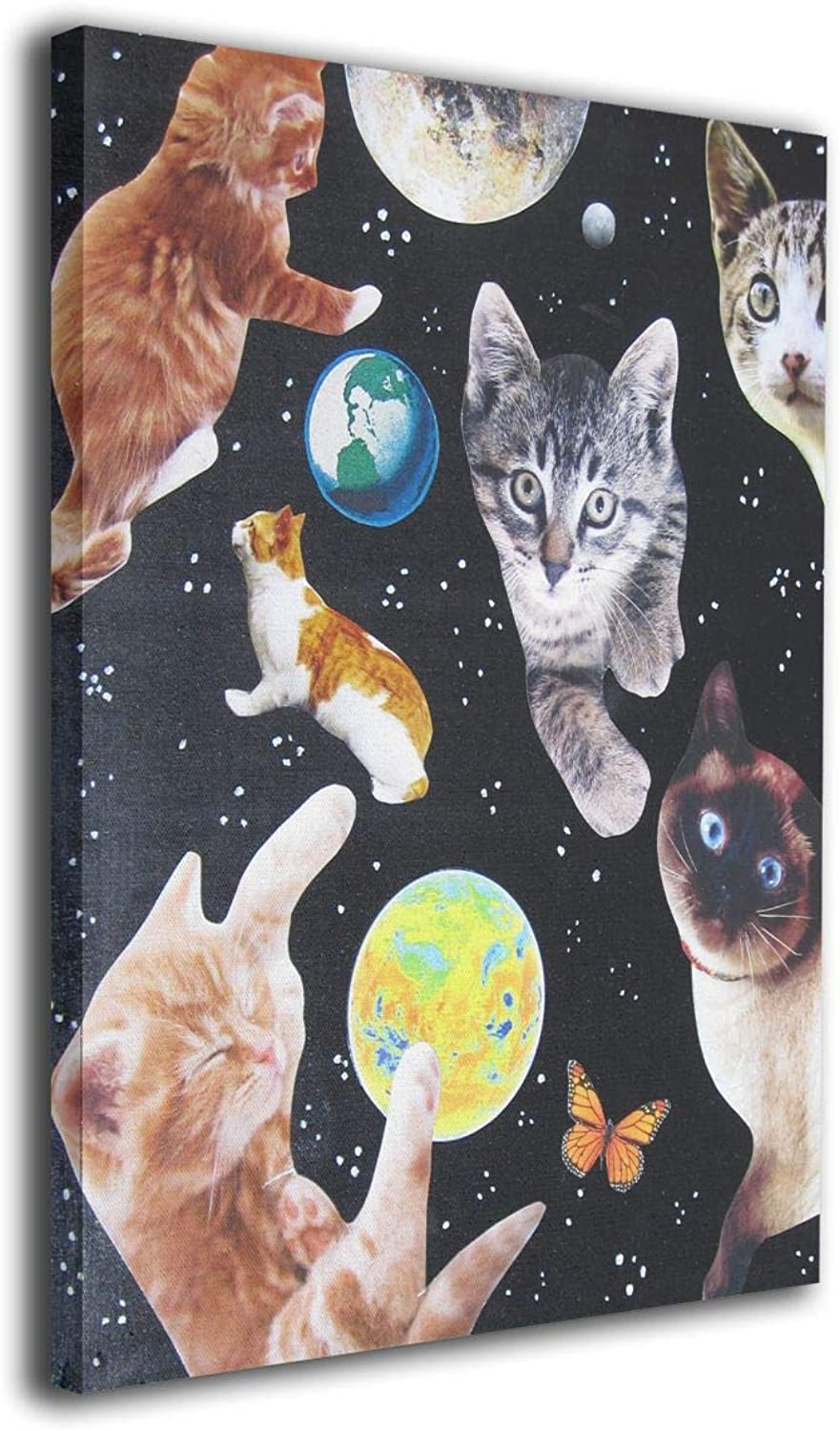 Gymsack Space Cats Print Drawstring Bags  Simple Gym Shoulder Bags
