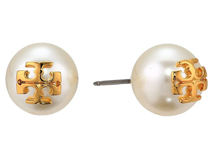 11fe61194 Tory Burch Crystal Pearl Stud Earrings at Zappos.com
