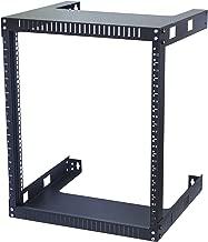Kenuco 12U Wall Mount Open Frame Steel Network Equipment Rack 17.75 Inch Deep