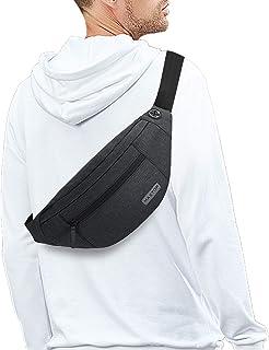 بسته بزرگ Fanny Crossbody Crossbody MAXTOP با جیب های 4 زیپ ، هدایایی برای لذت بردن از جشنواره ورزشی تمرین در حال اجرا در حال اجرا گاه به گاه کیف دستی بدون کیف کمر بسته کیف کمر تلفن همراه