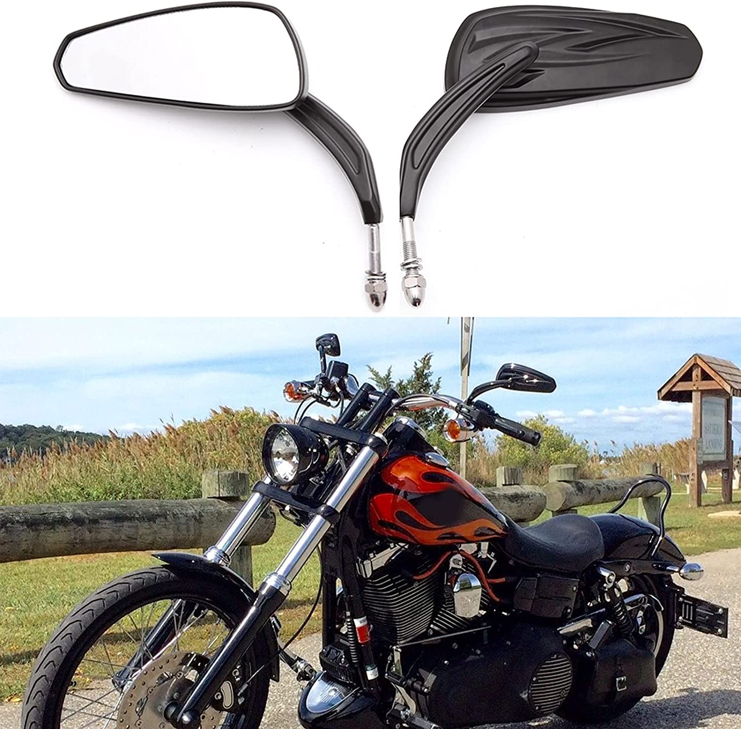 Surprise price Motorcycle Mirrors for shopping Road King Sportster Street Glide Electra