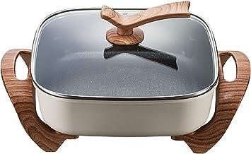 Zhenwo Facile À Laver Domestique Multifonction Wok Électrique Hot Pot Électrique Cuisine Fried Ragoût Un Pot Cuisinière Él...