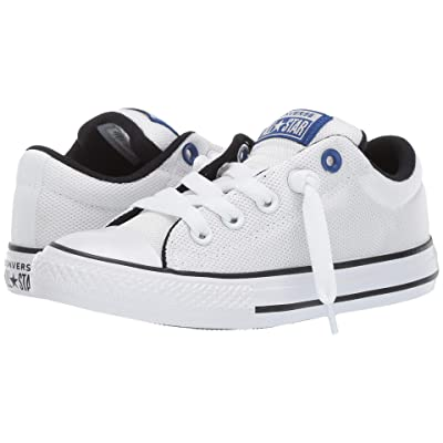 Converse Kids Chuck Taylor All Star Street Uniform Slip (Little Kid/Big Kid) (White/Blue/Black) Boys Shoes