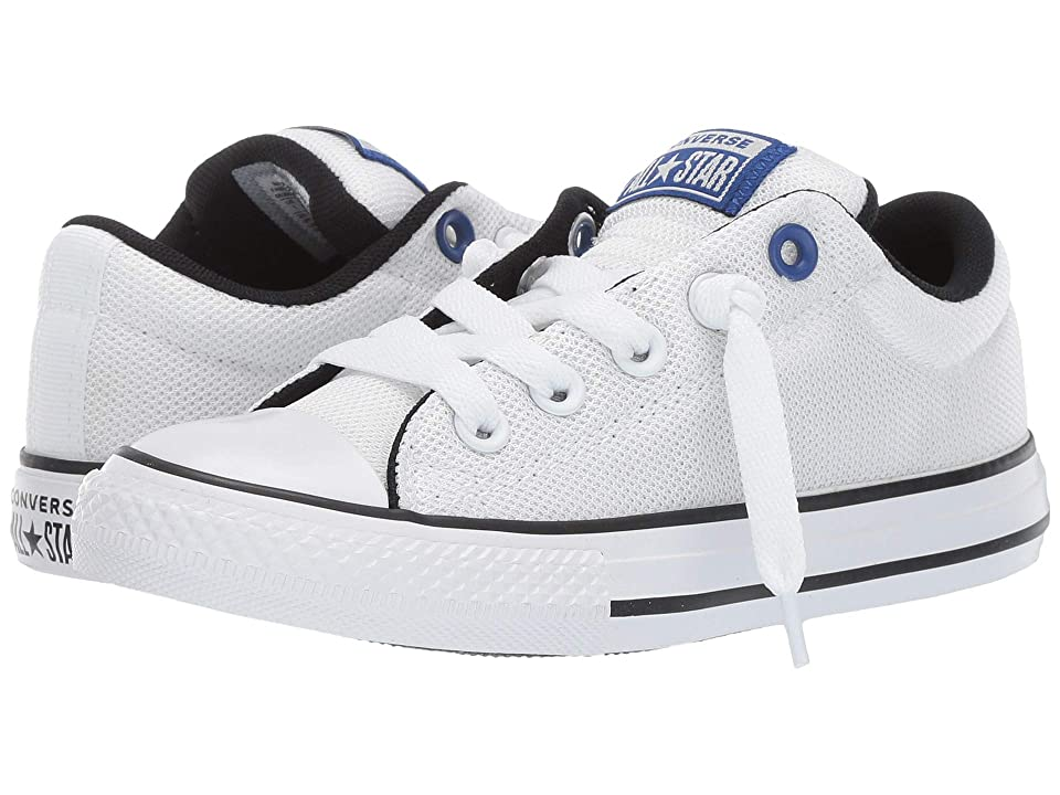 Converse Kids Chuck Taylor All Star Street Uniform Slip (Little Kid/Big Kid) (White/Blue/Black) Boys Shoes
