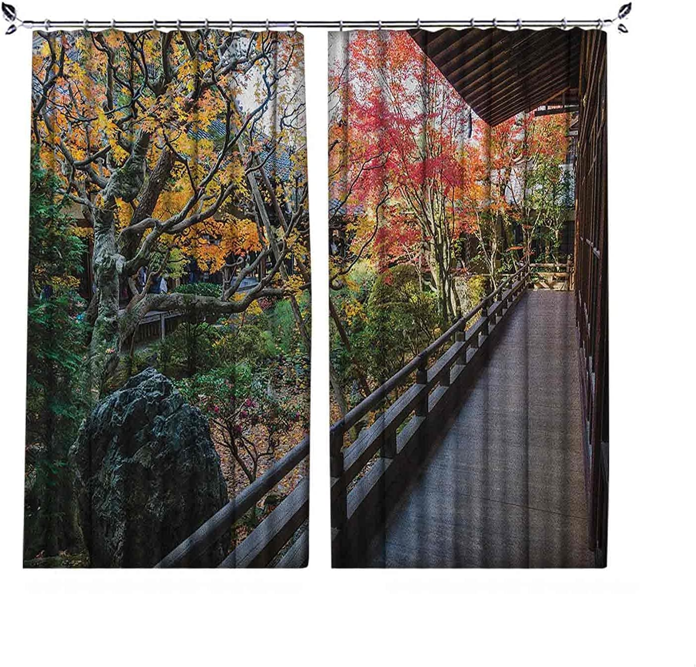 Room Darkening sale Japanese Curtain Forest Special price for a limited time Landscape from Wooden