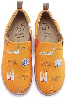 UIN Men's Art City Cute Canvas Barcelona Travel Shoe Orange