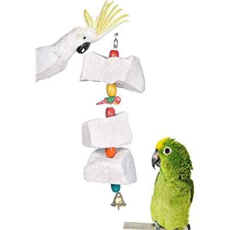 AVI CRAVE Natural Mineral Block Toy for Birds ,Budgies,Love Birds,Cocktails,Conures,Parrots and Other Birds (Large)