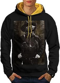 Mr Bear Beast Wild Mens Contrast Hoodie, Grylls Hooded Jumper