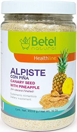 Leche de Alpiste with Pineapple/Pina - No Silica - Betel Natural - 16 Oz