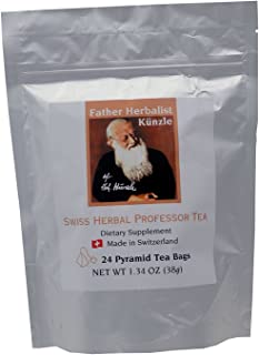 Künzle Swiss Herbal Professor Tea. Made in Switzerland from the original all natural mental focus and concentration supplement recipe from Father Herbalist Künzle.
