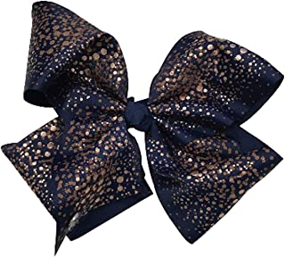 JoJo Siwa Large Cheer Hair Bow (Navy Copper Speckled)