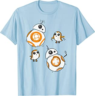 Porg and BB-8 Doodle T-Shirt