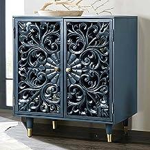 """LALUZ Storage Cabinet, 30"""" L 17.5"""" W 35.5"""" H, Blue"""