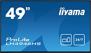 "Iiyama Prolite LH4946HS-B1 - Pantalla de señalización Digital (123,2 cm/48,5"", IPS-LED, Full-HD 24/7, VGA, DVI, 2 entradas HDMI, Displayport, RS232, RJ45, IR, USB 2.0), Color Negro"