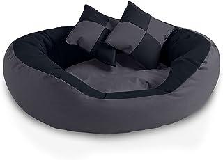 BedDog® 4en1 Saba Antracita/Gris L Aprox. 65x50cm colchón para Perro, 7 Colores, Cama, sofá, Cesta para Perro
