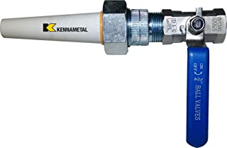 "Large Ceramic Sandblaster Nozzle Assembly: C1 (5/16"" ID) Nozzle Tip, Steel Ball Valve & Holder- Longer-Lasting Professional Abrasive Blasting Nozzle Tip Replacement"