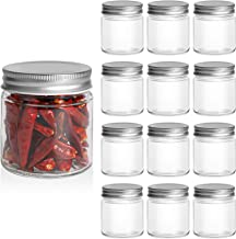 ComSaf Glass Jar, Set of 12 Mason Jars with Airtight Metal Regular Lids(8oz/250ml), Sealed Clear Glass Canning Jars with W...