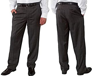 Kirkland Signature Men's 100% Wool Flat Front & Pleated Dress Pants