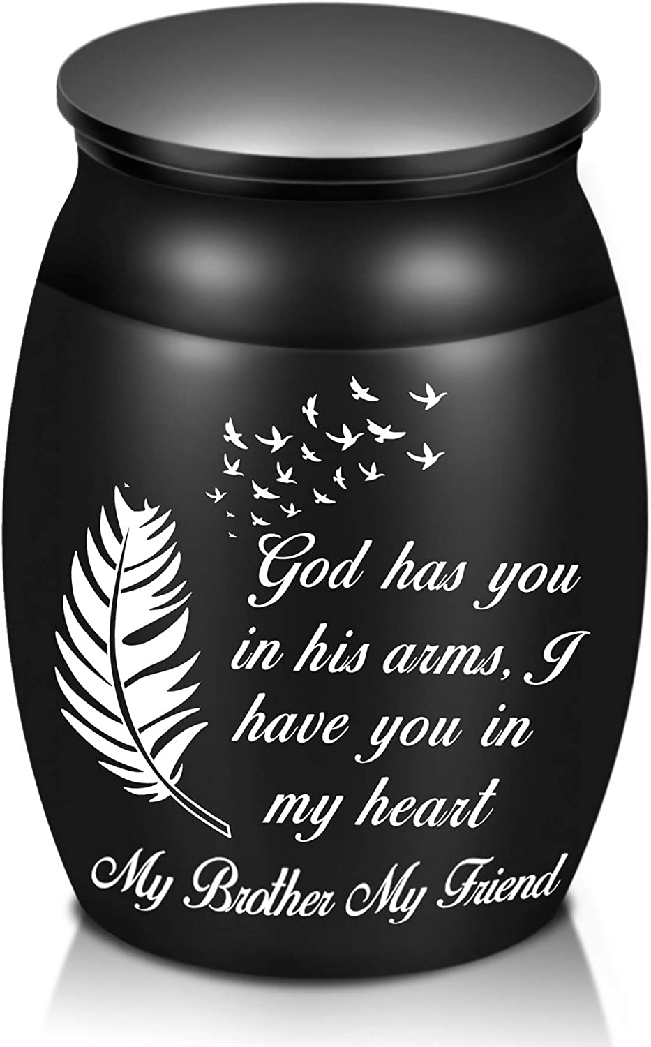 """Beautiful Urns for NEW before selling Brother Ashes 1.6"""" Decorativ High Small National uniform free shipping"""