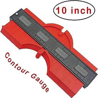 EZGAUGE : Master Outline Gauge 10 inch Contour Gauge for Professional Precise Measurement (2019 Upgraded Red)