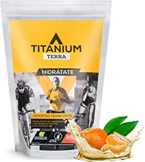 Sponsored Ad - TITANIUM TERRA Electrolyte Powder Hydration Pack With Carb Mix For Cycling, Running, Hiking - Endurance Spo...
