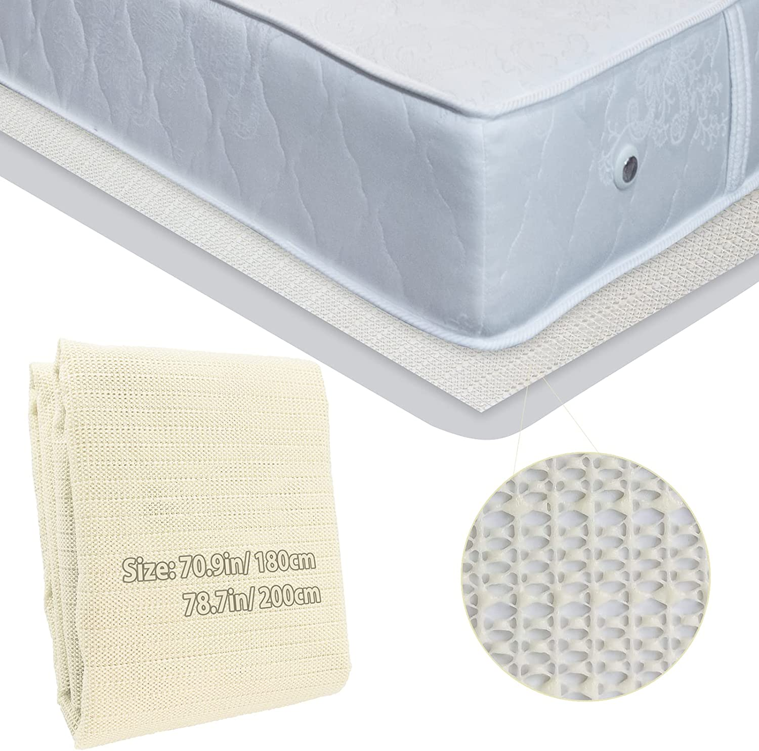 Non-Slip safety Mattress Gripper Safety and trust Pad Slide Durable KOMTASUO S