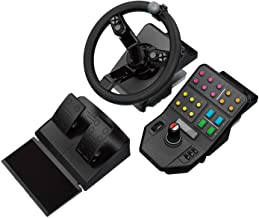 Best Logitech G Farm Simulator Heavy Equipment Bundle (2nd Generation), Steering Wheel Controller for Farm Simulation 19 (or Older), Wheel, Pedals, Vehicule Side Panel Control Deck for PC/PS4 Review