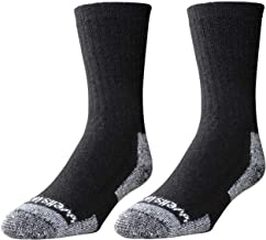 Wells Lamont Men's Wool Crew Socks, Shoe Sizes 7 to 9 1/2, 2 Pair Pack (9331MN)