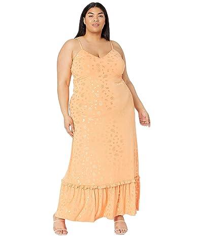 MICHAEL Michael Kors Plus Size Paisley Foil Maxi Dress Women