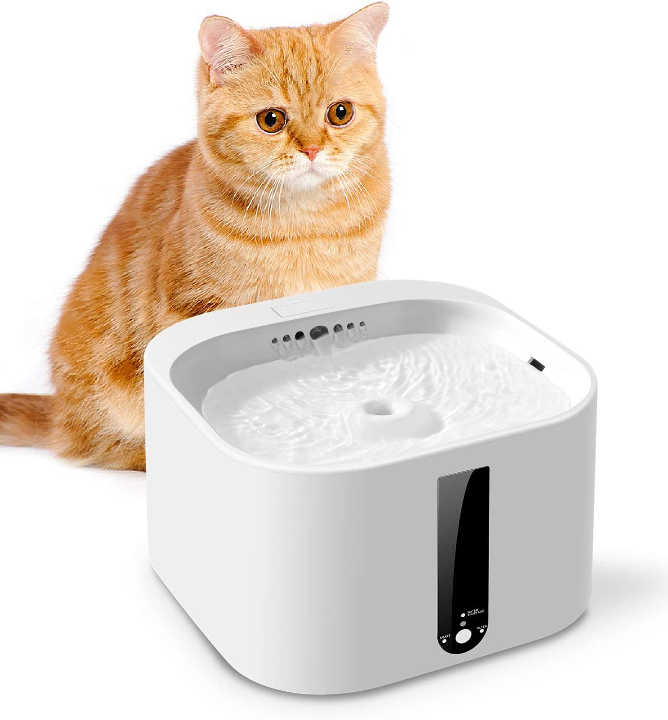 New Shipping Free Shipping Uterip Smart Pet Fountain 70oz Max 78% OFF Automatic 2L Cat Dispenser Water