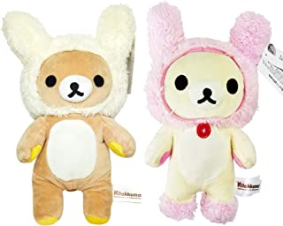 San-X Rilakkuma Mascot Series - Rilakkuma and Korilakkuma Rabbit Hat 10