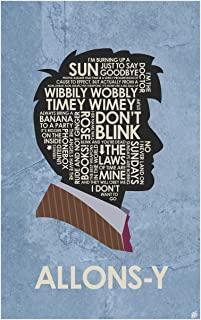Doctor Who, David Tennant, Allons-y Word Art Print Poster (12