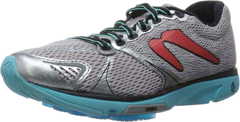 Newton Running Women's Distance V Silver Aqua Athletic shoes