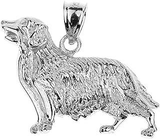 golden retriever necklace pendant