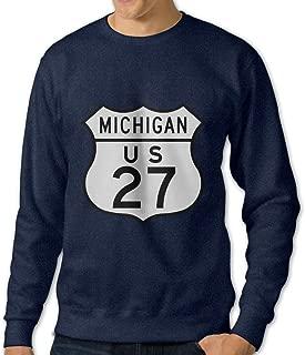 Michigan US 27 Cool Logo Vintage Design O-Neck Vintage Hoodies Sweatshirts Man