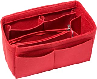 HEALTHLOVE Felt Insert Bag Organizer Purse Organizer Include Zipper Purse for Handbag Choice 3 Size