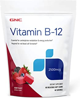 GNC Vitamin B-12 Soft Chews - Berry Blast