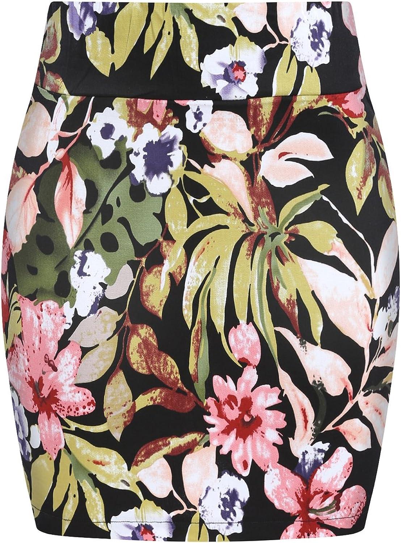 WorkTd Womens Pencil Skirt Vintage Floral Above Knee Midi Tight Pencil Dress Skirt