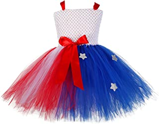 Tutu Dreams Holiday Dress Costume for Girls 1-12Y(Thanksgiving Day, Mardi Gras, Flag Day)