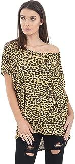 Momo&Ayat Fashions Ladies Casual Leopard Print Baggy t-Shirt top AUS Size 8-26