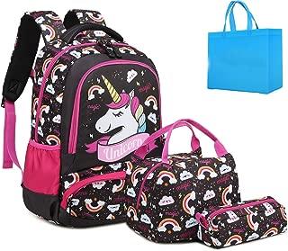 Girls Backpacks Unicorn Teens Backpack Sets for School with Lunch Box Kids School Bags Set 3 in 1 Girls Bookbag