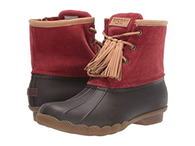 Sperry Saltwater Tassel Corduroy (Wine) Women
